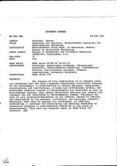 ERIC - ERIC ED052986: Education for Survival, Massachusetts Resources for Environmental Education.